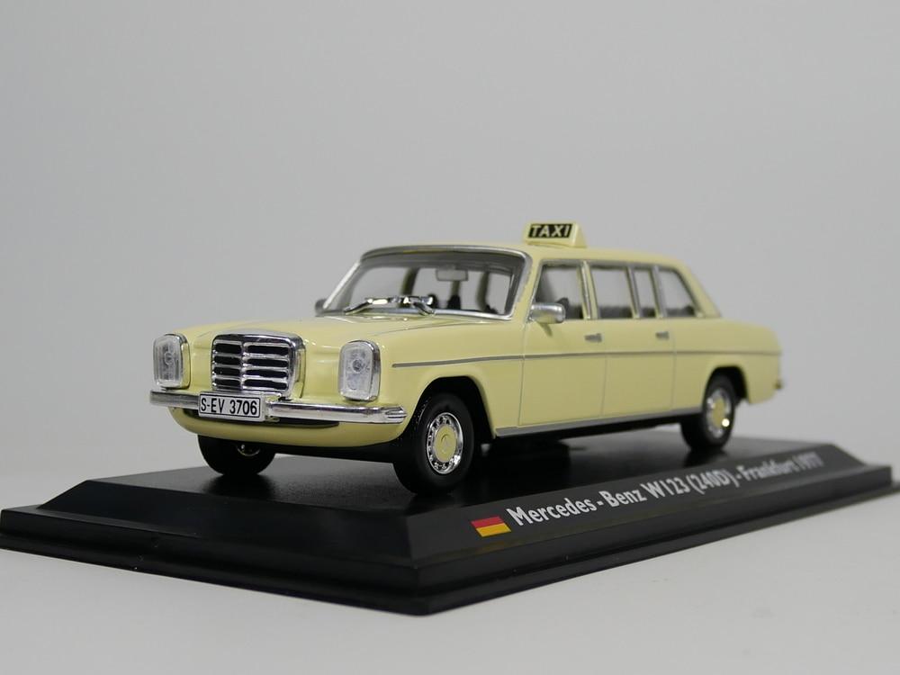 Leo Model 1:43 Germany Taxi - Frankfurt Taxi 1977- W123 (240D) - Diecast Model Car