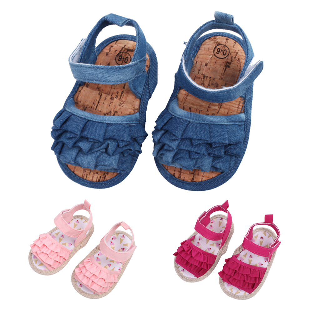 Baby Girl Sandal Clogs Shoes Infant Summer Shoes Newborn Princess Shoes Infant Soft Sole Shoes 0-18M