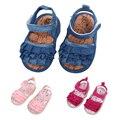 Девочка Сандалии Сабо Shoes Младенческой Летние Shoes Новорожденные Princess Shoes Младенческой Мягкой Подошвой Shoes 0-18 M