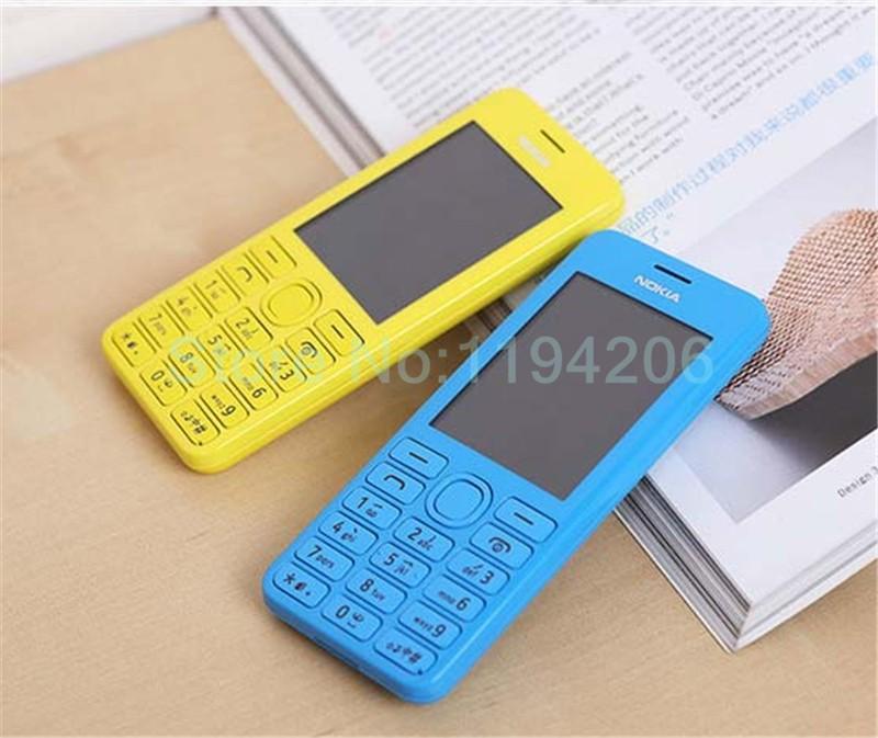 new smart phone Nokia 206 2060 2G GSM 1.3MP 1100mAh Unlocked Cheap Celluar Phone dual sim card blue 5