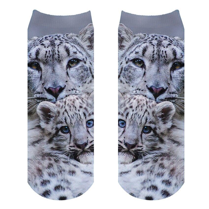 RUNNING CHICK Snow Leopard 3d Printing Adult Socks
