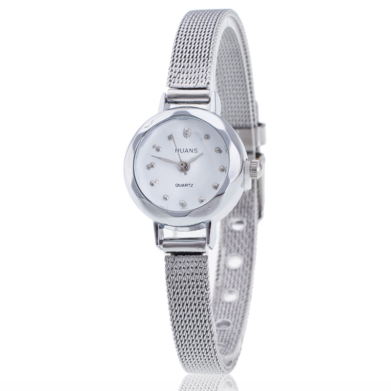 Golden And Sliver Ladies Quartz Watch Alloy Casual Style