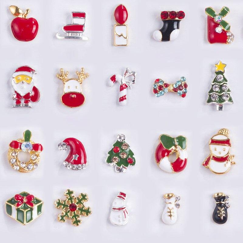 Schönheit & Gesundheit Effizient Newby 10 Designs/box Legierung Metall Weihnachten Schneemann Nail Art Dekorationen Charms Diy 3d Nagel Strass Zubehör Schmuck Werkzeuge