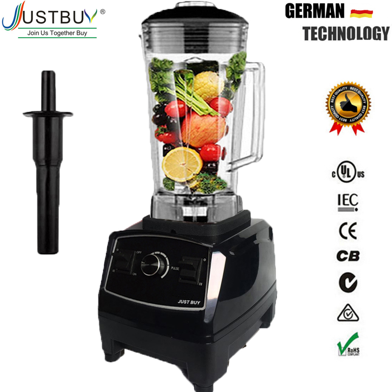 BPA Free 3HP Heavy Duty Commercial Blender Mixer High Power Food Processor Ice Smoothie Bar Fruit Electric Blender máy xay sinh tố của đức