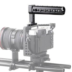 Image 5 - Smallrig ユニバーサルトップハンドルグリップとコールドシュープレートデジタル一眼レフカメラケージモニター led マイク靴マウント DIY 1638