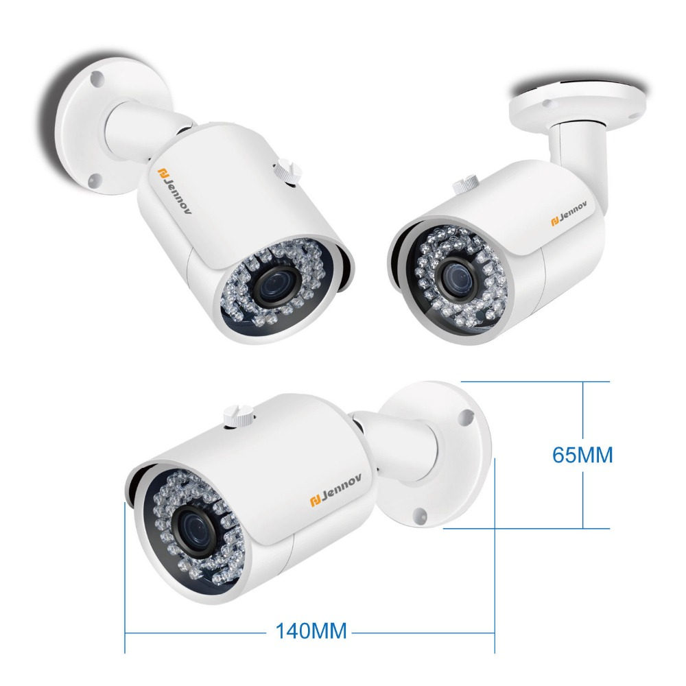 2CH POE 1080P Aduio Record 2MP Home Security Camera With Led Light Video Surveillance System Kit CCTV Set NVR ip Camera Outdoor