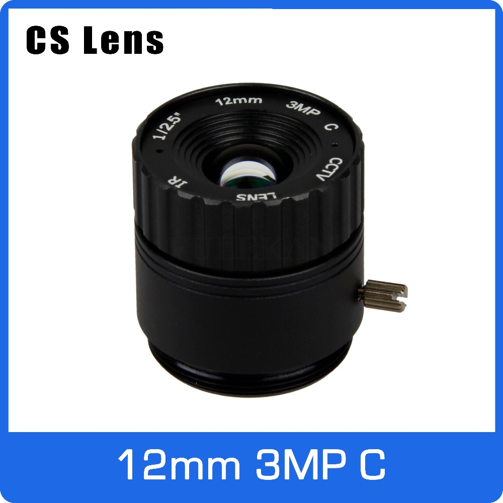 3Megapixel 12mm CS Mount Fixed 1/2.5 Inch CCTV Lens For HD 1080P AHD IP Camera Box Camera Explosion Proof Camera Free Shipping