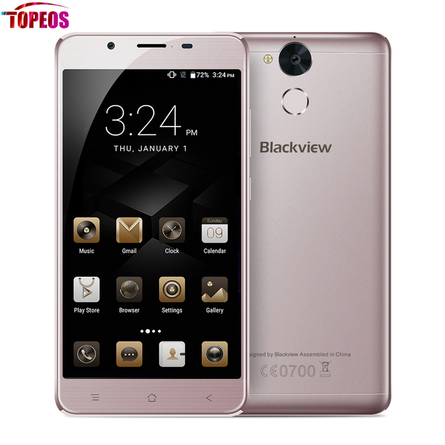 5.5'' Blackview P2 Lite Android 7.0 Smartphone MTK6727 Octa Core 3GB RAM 32GB ROM Fingerprint FHD 13MP 6000mAh 4G LTE Phone