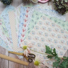 24sheets 12 DIY Desert Flower Plants Design Gift Wrapping Paper Creative Craft Handmade Scrapbooking Set