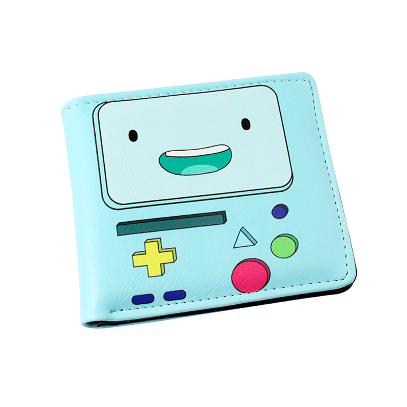 Fashion Colorful Short PU Wallet/Purse Printed with BMO of Adventure Time with Finn and Jake