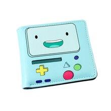 Mode Coloré Court PU Portefeuille/Sac À Main Imprimé avec BMO de Adventure Time avec Finn et Jake