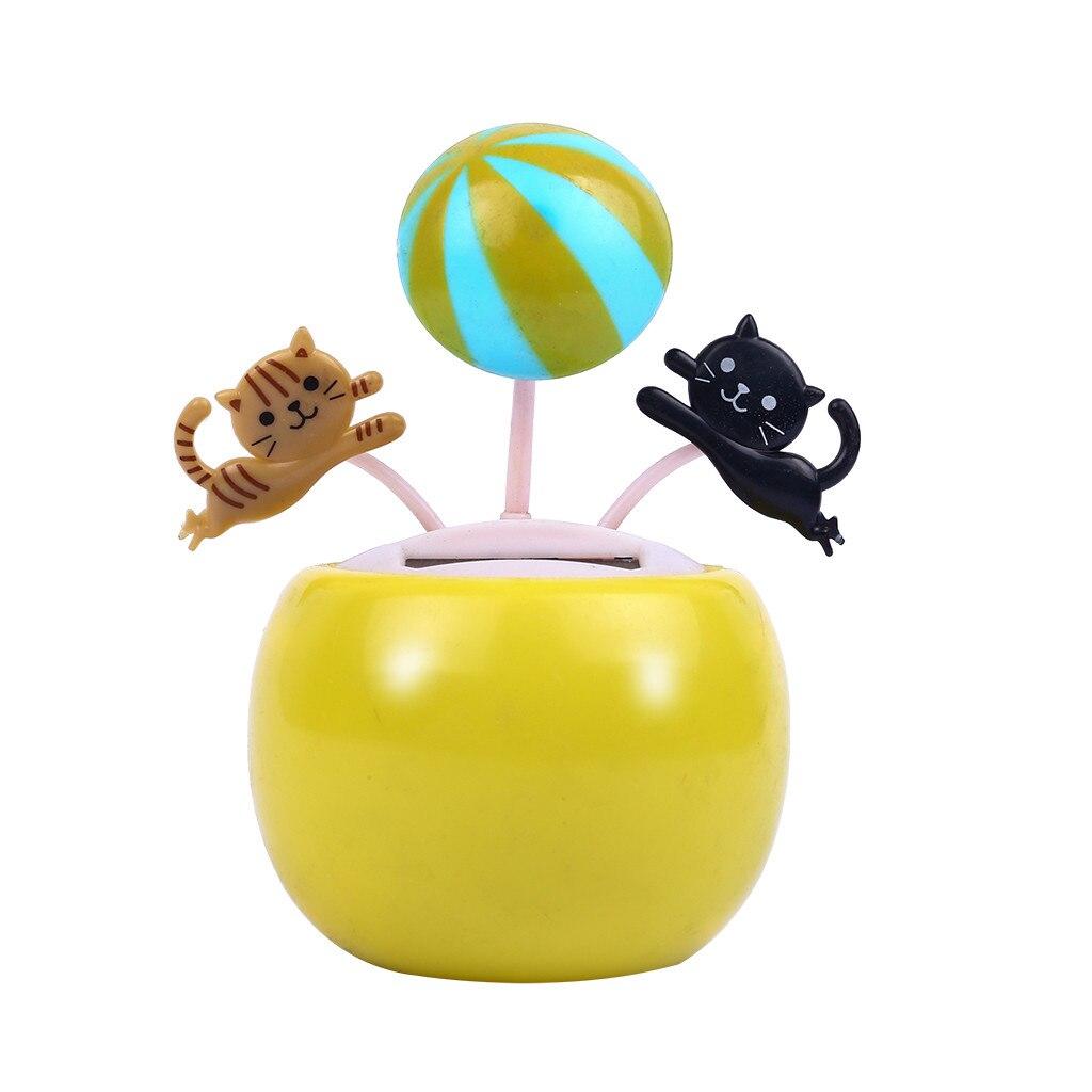 1 Pc Auto Decoratie Plastic Zonne-energie Dansen Bloem Swingende Geanimeerde Danser Speelgoed Nieuwe Groen Geel Blauw