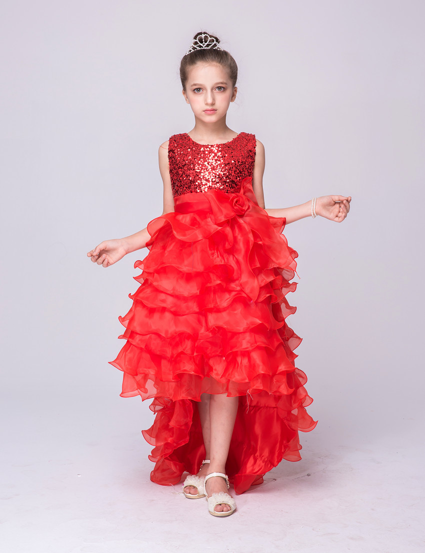 Compare prices on bridesmaid dresses christmas online shopping nicoevaropa 2017 christmas girls party dresses children sleeveless sequined tail layered wedding dresses kids bridesmaid vestido ombrellifo Images