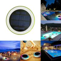 RGB LED Underwater Light Solar Power Pond Outdoor Swimming Pool Floating Waterproof Decorative LED Light With Remote Control