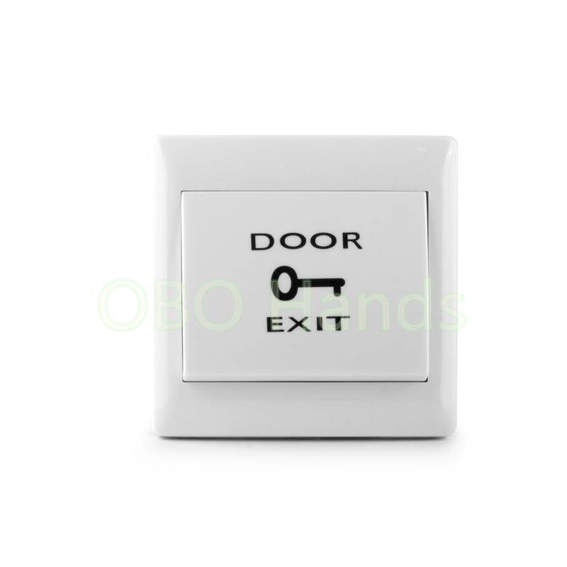 Free shipping Fireproofing Plastic ABS White Push Door Release Exit Button Switch for Door Lock Access Control system M6 model free shipping plastic exit button exit switch for door access control system door push exit door release switch with back box