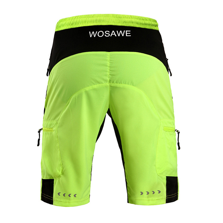 WOSAWE Cycling Shorts MTB Bike Shorts Breathable Waterproof Loose Fit  Outdoor Sports Bicycle Trousers With Zippered Pockets-in Cycling Shorts  from Sports ... 7fa7fbaaa