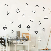 Triangle Wall Sticker, iWall Sticker Baby Nursery Obtuse Decal For Kids Rooms, Vinyl House Decoration P53
