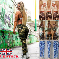 Women's Butt Lift Comfy Stretch Denim Skinny Pants Womens Ultra Soft High Waist Camo Leggings Rise Stretch Ripped Skinny Pants