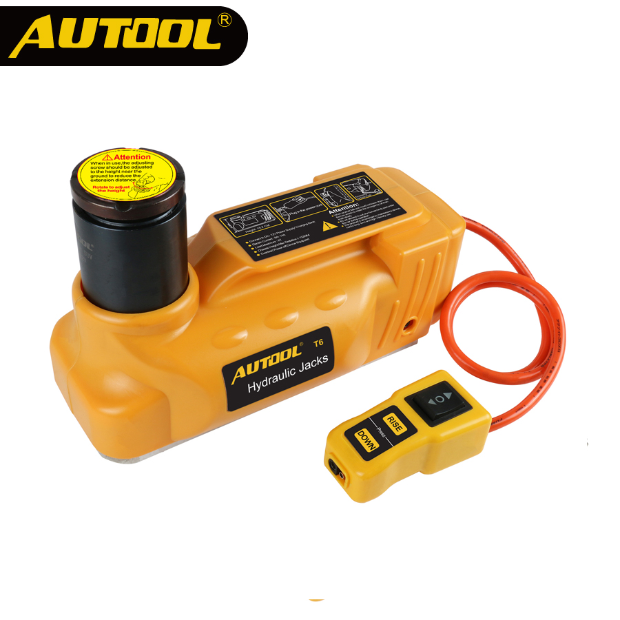 AUTOOL 6T Hydraulic Car Jacks DC12V Floor Jack Tire Replace Lifting Car Jack Portable Automotive Lifting Roadside Emergency Tool