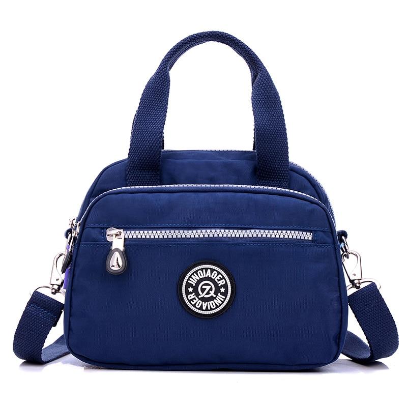 Mada Moterų vandeniui Nylon Messenger Krepšiai Moterų Tote peties krepšiai Merginos atsitiktinis rankinės Crossbody mokyklos krepšys