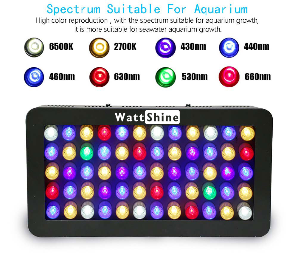 Remote or Touch control 180W LED Aquarium Light Timer Control Dimmable lamp Freshwater and Saltwater Coral Reef Grow Fish Tank (15)