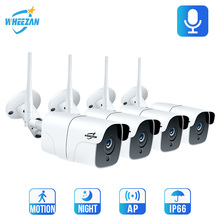 Wheezan CCTV Camera Security System Wifi Video Surveillance Kit 1080P HD Wireless IP Camera Outdoor Two way Audio Alarm Home Cam wireless outdoor wifi ir cut ip camera 1080p full hd 2mp cmos security cctv ip camera alarm pt for wifi and gsm sms alarm system