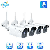 Wheezan CCTV Camera Security System Wifi Video Surveillance Kit 1080P HD Wireless IP Camera Outdoor Two way Audio Alarm Home Cam