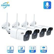 Wheezan cctv камера система безопасности wifi комплект видеонаблюдения