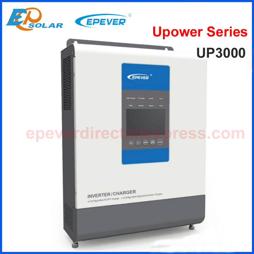 EPEVER MPPT controlador de cargador Solar 30A cargador inversor híbrido UP3000 de onda sinusoidal pura con salida de CA 220 V/230 V de la batería 24 V
