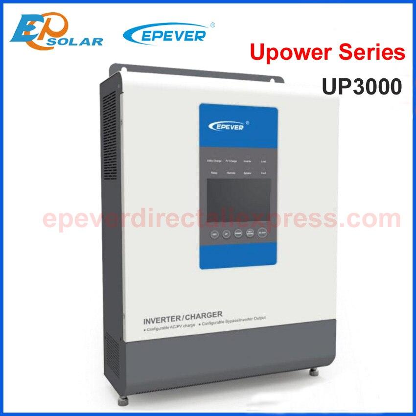 MPPT carregador Solar controlador Carregador 30A & Inversor EPEVER UP3000 híbrido onda Senoidal Pura com saída AC 220 v/ 230 v Bateria 24 v