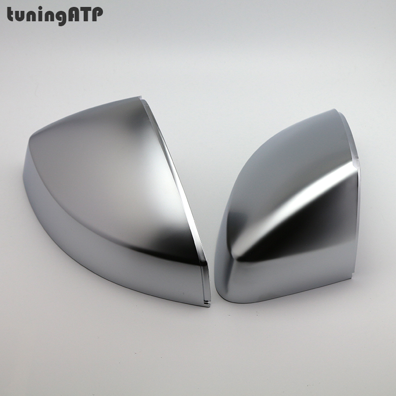 PAIR Matte Electroplated Silver Door Wing Mirror Replacement Covers Caps for Audi A3 8V 2013-2016 футболка рингер printio born in russia рожден в россии