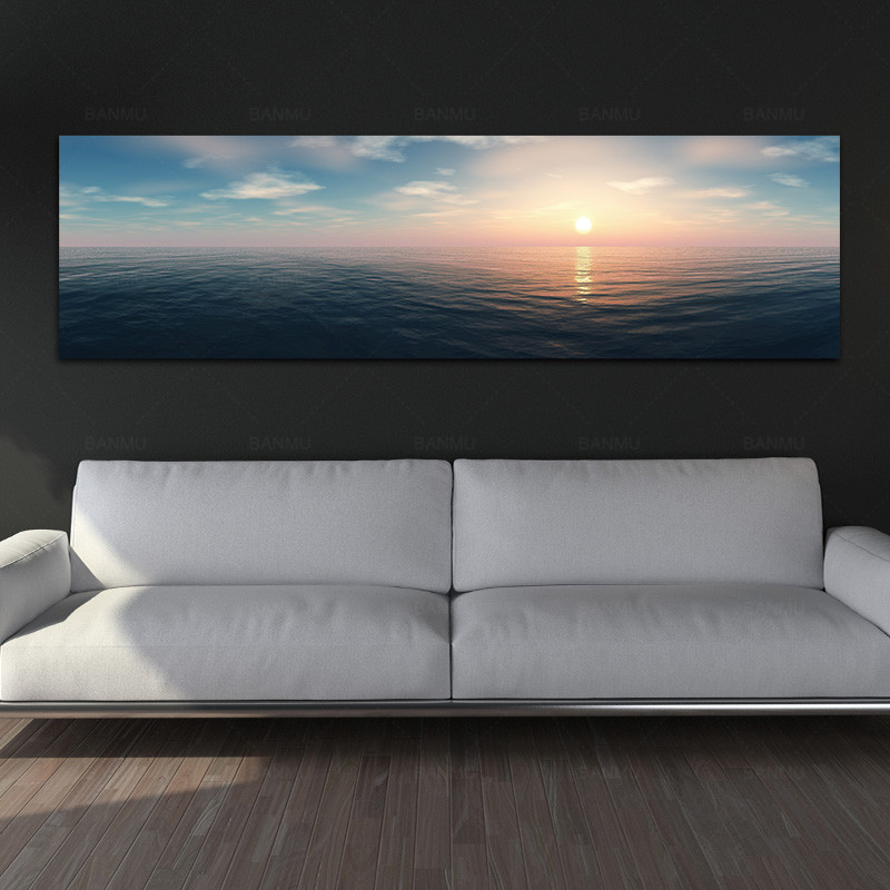 canvas painting landcape art print wall picture and posters see sunreise picture wall artPainting decoration for living room