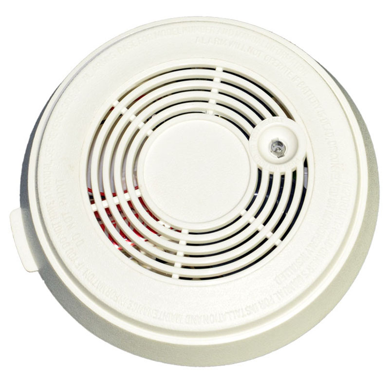 Single Smoke Alarm  Photoelectric  Battery Optical Smoke Detector With DC9V Home  Security Fire Alarm Sensor