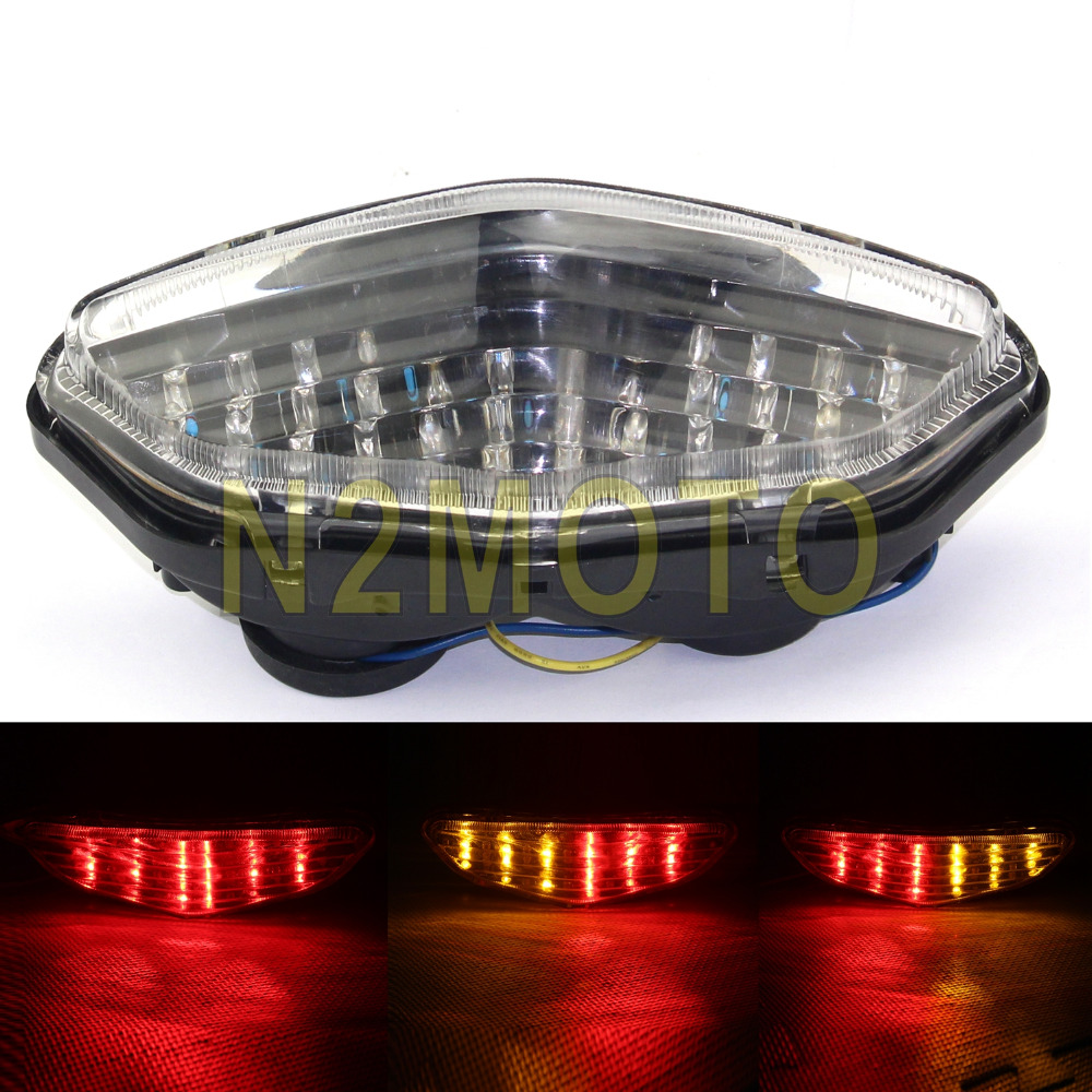 12V LED Taillight Suzuki SV 650//1000 2003-2008 Smoke LED Tail turn signal light