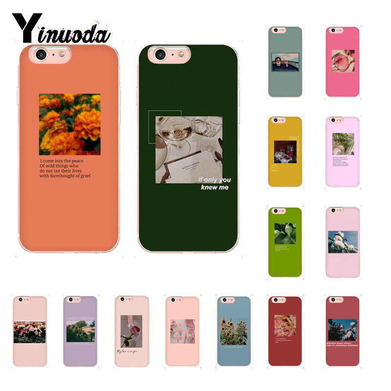 Yinuoda Aesthetic Art Pattern Floral Printing Soft Phone Cover For