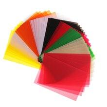 50 шт., 15x10 см цветной прозрачный отслеживания бумаги для DIY Scrapbooking