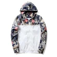 Floral font b Jacket b font 2018 Autumn font b Mens b font Hooded font b