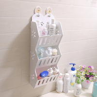 Punch free Bathroom Shelf Wall Hanging Toilet Wall Table Corner Wash Cosmetics Storage Rack Bathroom Storage Rack