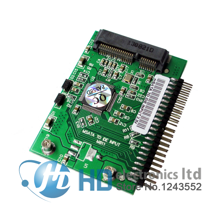free shipping mini PCI-e <font><b>msata</b></font> SSD to IDE 1.8 inch 3.3V 44pin <font><b>Adapter</b></font> Card <font><b>msata</b></font> PCI Express <font><b>Sata</b></font> Converter For Laptop Notebook image