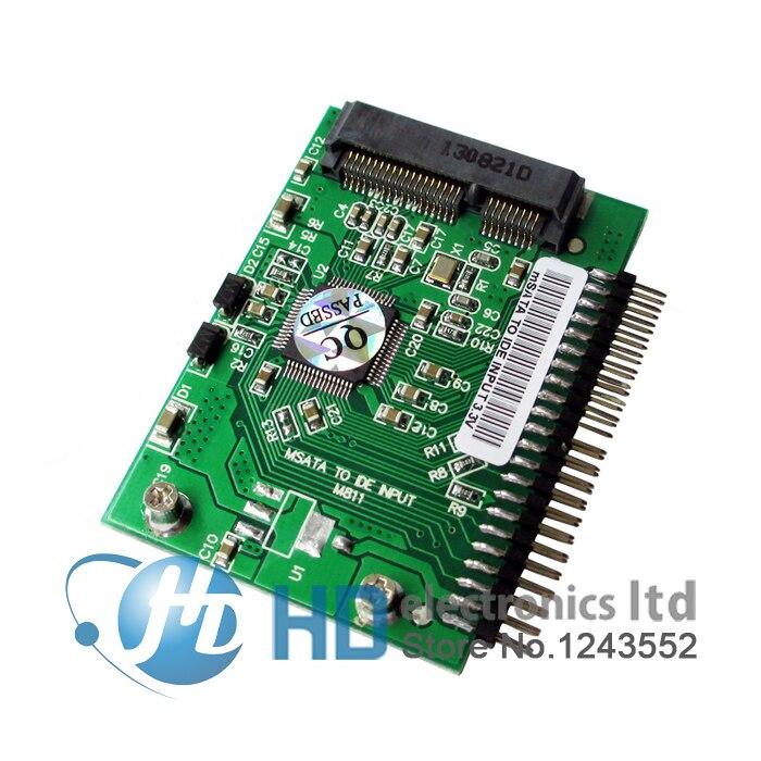 Free Shipping Mini PCI-e Msata SSD To IDE 1.8 Inch 3.3V 44pin Adapter Card Msata PCI Express Sata Converter For Laptop Notebook