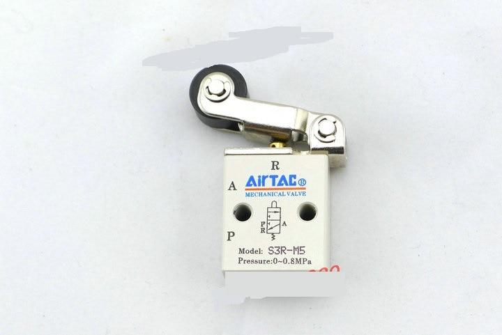 Supply AirTac genuine original mechanical valve S3R-M5. original gas control valve syja522 m5