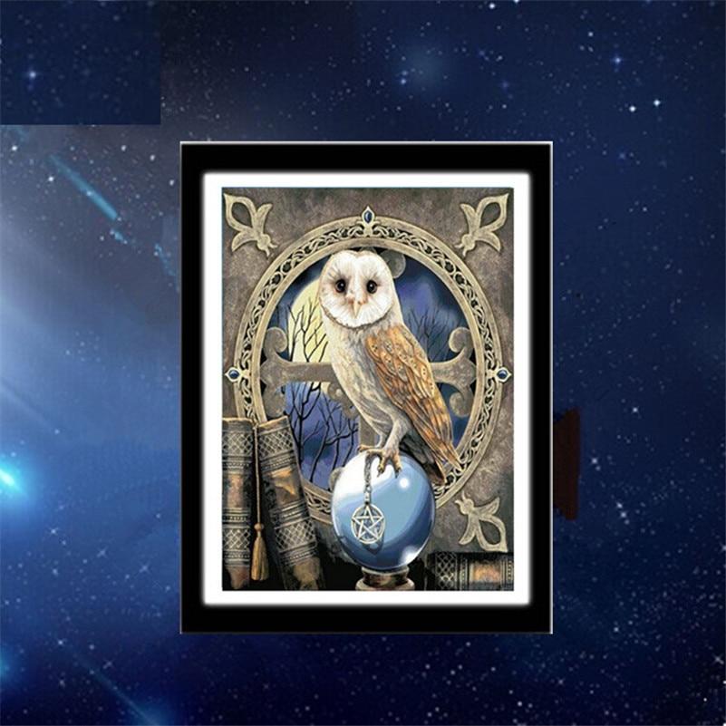 font b animals b font owl 3D diy diamond painting wall sticker diamond mosaic cross