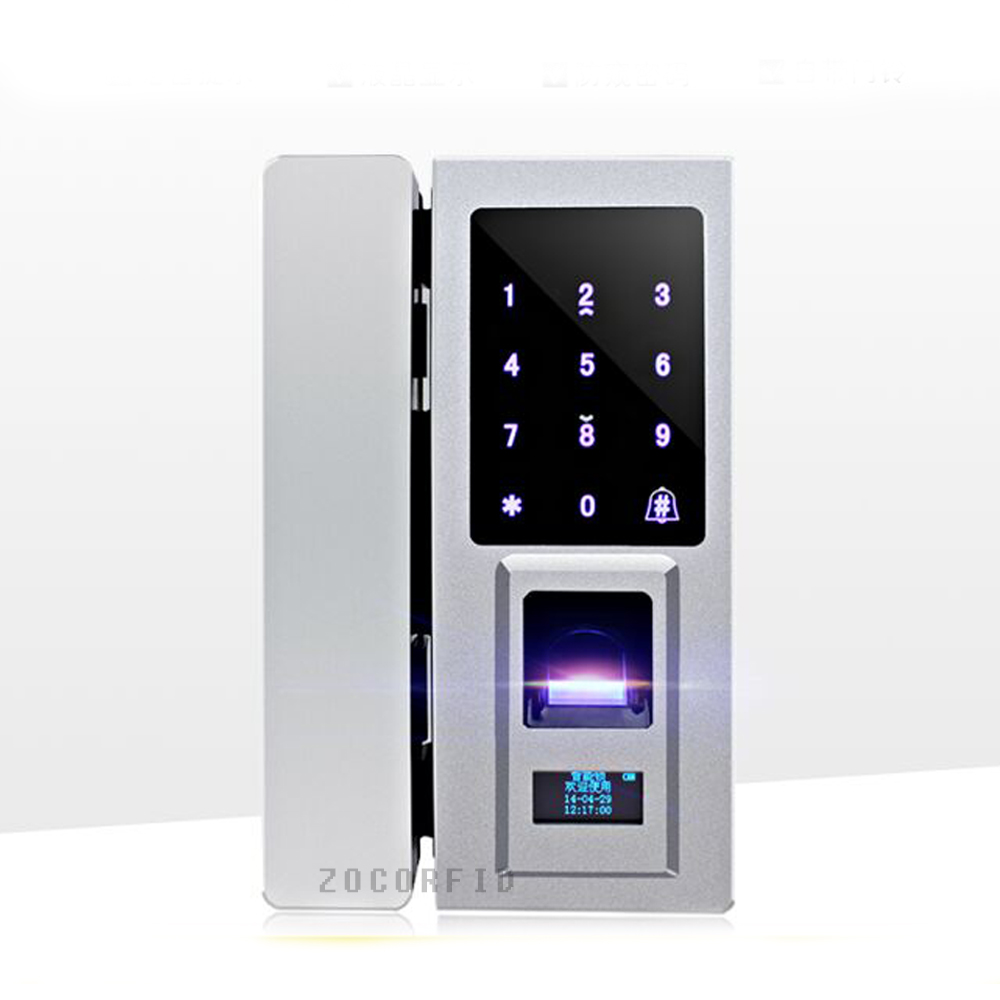 Diy glass door special electronic door lock touch screen for 1 touch fingerprint door lock