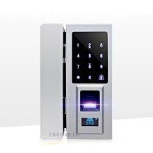 DIY glastür spezielle Elektronische Türschloss Touchscreen Fingerprint/Passwort Digitale Code/RFID Card Keyless Schlossfalle schloss