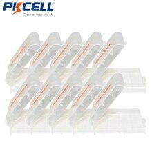 10pc x plástico caso titular caixa de armazenamento capa para baterias recarregáveis aa e aaa pkcell