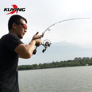 Image 2 - KUYING למעלה גלגלית 2.1m ספינינג ליהוק פיתוי חכת דיג מקל מקל מוט ML אור רך 2 סעיף פחמן בינוני מהיר פעולה