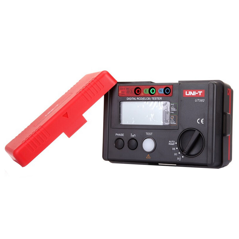 UNI-T UT582 Digital RCD (ELCB) Tester AUTO RAMP Leakage Circuit Breaker Meter with Mis-Operation Buzzer 4 8 days arrival uni t ut582 digital rcd elcb testers meter auto ramp leakage circuit breaker