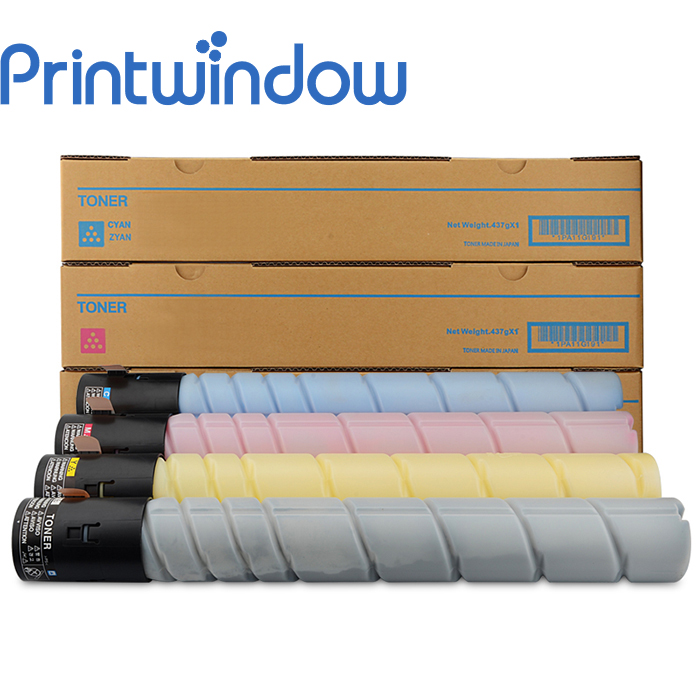 Printwindow Compatible Toner Cartridge for Konica Minolta Bizhub C258/C308/C368 4X/Set long life compatible opc drum for konica minolta bizhub press c 6000 c7000 7000p 70hc