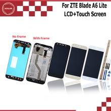 "Ocolor ل ZTE بليد A6 لايت شاشة الكريستال السائل و شاشة تعمل باللمس مع الإطار 5.2 ""اكسسوارات الهاتف ل ZTE بليد A6 أدوات لاصق"