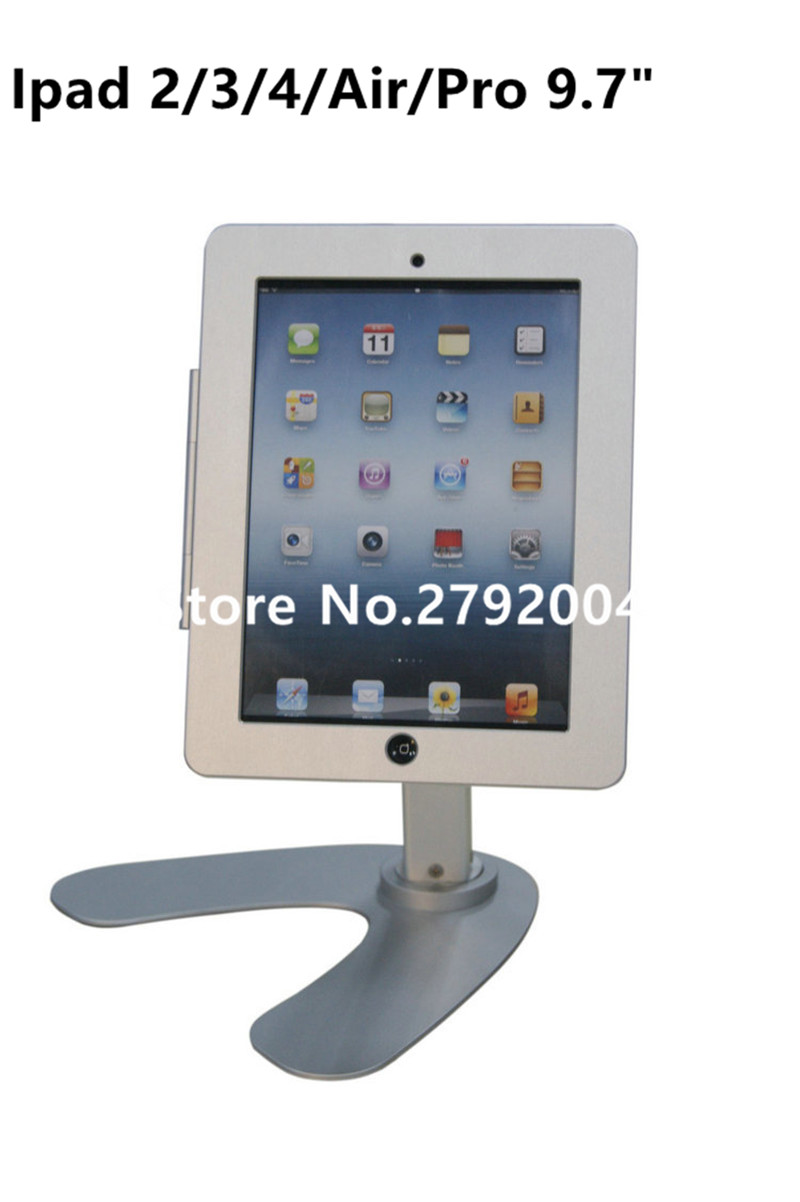 for ipad 2/3/4/air/pro 9.7 table rotation stand security lock housing kiosk POS display on restaurant for menul ordering